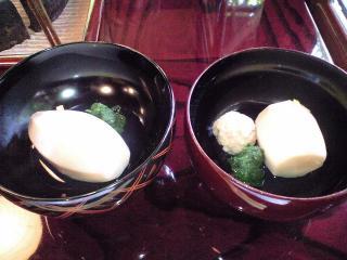 うかい鳥山 料理 海老芋比較