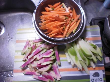 カットされた野菜たち