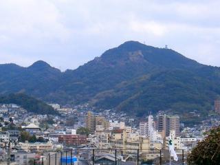 西山から望む彦山