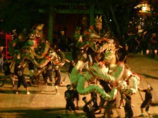 筑後町龍踊り1