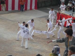 長坂連の龍踊り