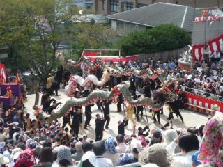 諏訪神社 龍踊り