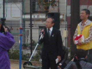 祝辞を述べる吉原長崎市議会議長