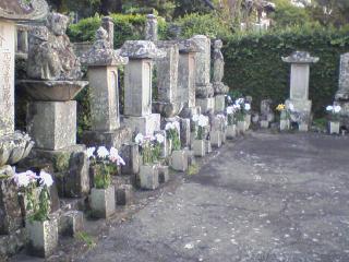 木下逸雲の墓地