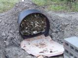 ドラム缶で竹炭作り
