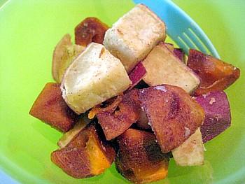 柿とサツマイモのサラダ2