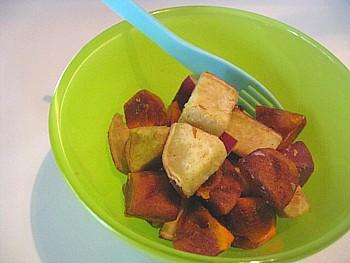 柿とサツマイモのサラダ