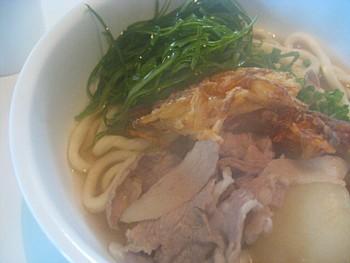 天ぷらと肉うどん2