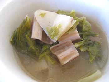 根菜と白菜の煮物2