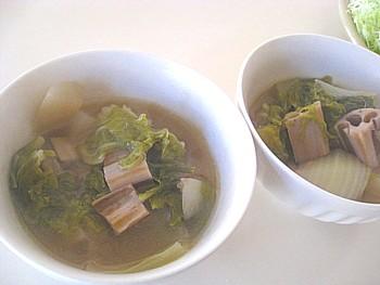 根菜と白菜の煮物