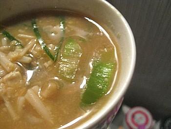 エノキの味噌汁2