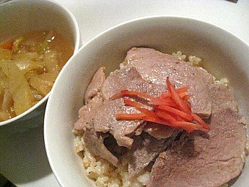 ポークの生姜焼き玄米丼3