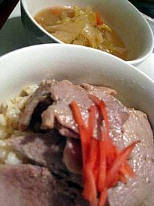 ポークの生姜焼き玄米丼
