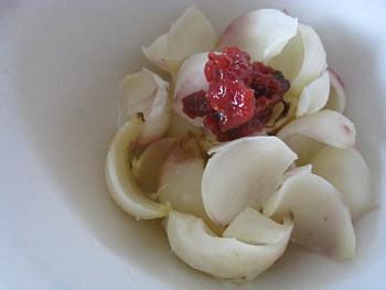 百合根の梅肉和え
