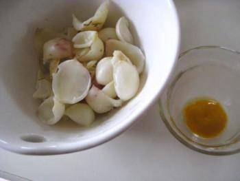 百合根のカラシ醤油和え