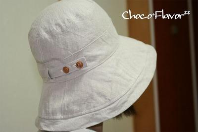 リネンの帽子