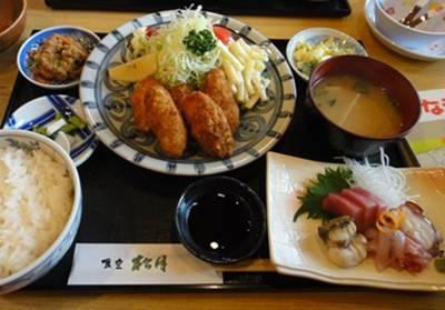 松月4 カキフライ定食