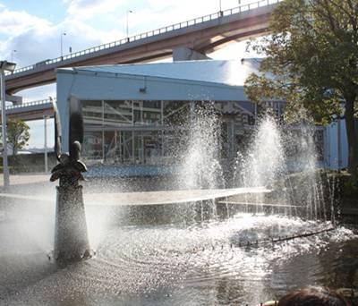 神戸 メリケンパーク 噴水