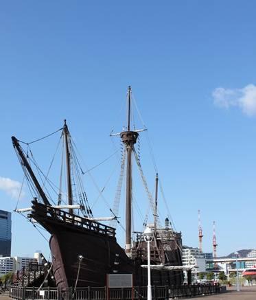 神戸メリケンパーク 船