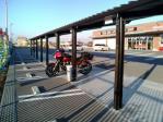 バイクセブンのバイク駐輪場