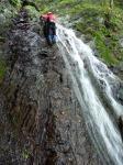 5ナメ滝を登る