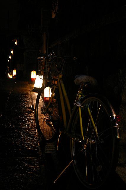 配達の自転車