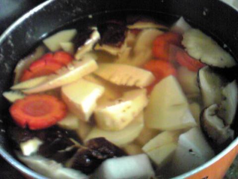 ことこと煮物を炊くように野菜を炊く^^