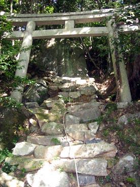 奥の院の登り:観音正寺