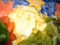 ゆで卵・トマト・レタスのサラダ