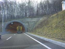 今朝(2008.11.19)開通した旭川新道の新トンネル(札幌方向)
