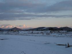 左に大雪山 右に旭山動物園