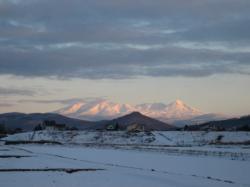 きれいに山が見えました(^^)