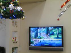 大画面テレビではアンパンマン放映中♪