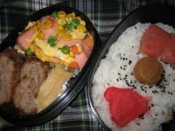 クリスマスの日(2008.12.25)のお弁当(^^)