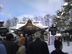 鷹栖神社の初詣(2009.1.1)