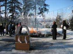 昨年(2009.1.8) 上川神社のどんど焼き