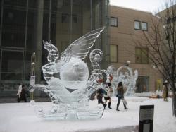 買物公園会場の氷像