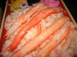 蟹のむき身がきれいです(^^)