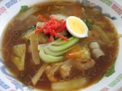 旭川大学の学食 この日の特食は広東麺450円