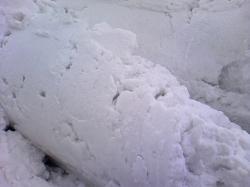 この時期の雪のかたまり・・・う~~ん、手強い!