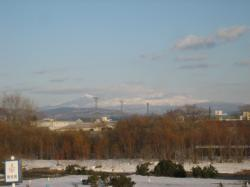 ここのところ、夕方はきれいに見える山々