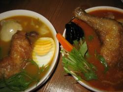 マサラのスープカレー 辛さの違いが色でわかります(^^ゞ