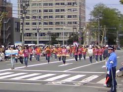 忠和中学校吹奏楽部の皆さん(2009音楽大行進より)