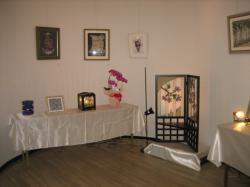 ステンドグラスと押し花の作品たち