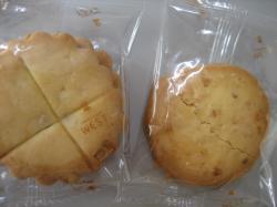 「バタークッキー」(左)と「マカダミアン」(右)