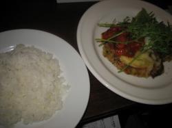 豚ヒレ肉のカツとトマトのソース