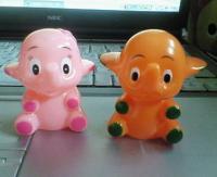 サトちゃん&サトコちゃんソフビ指人形