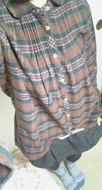 チェックシャツ*