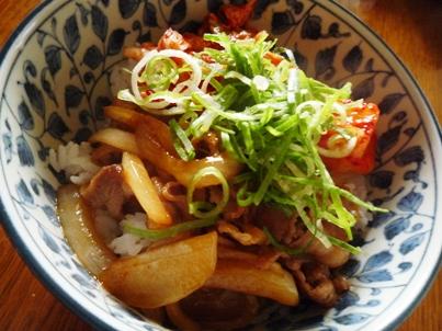 081206 豚キムチ丼