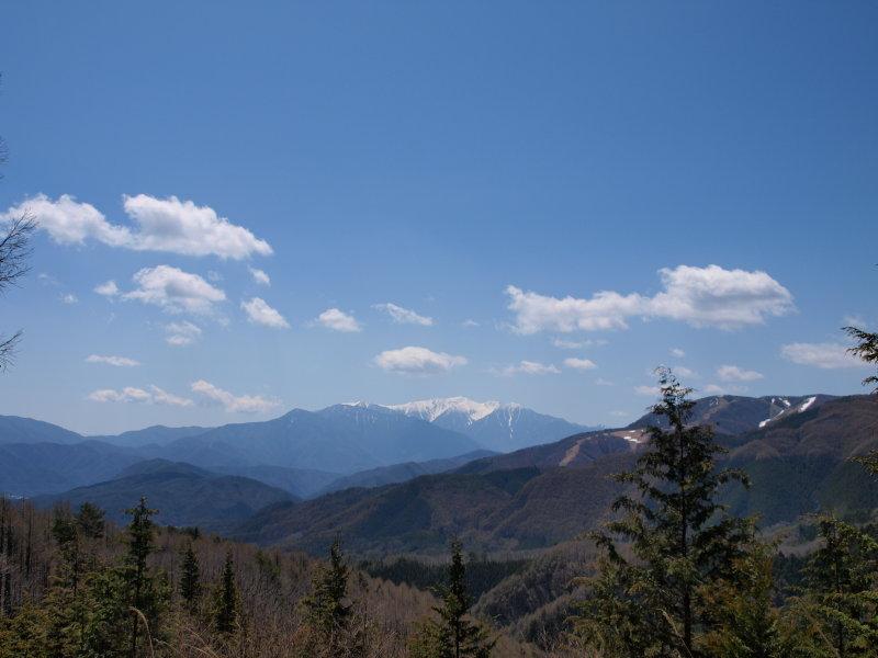 水木沢の森展望台より 木曽駒ケ岳